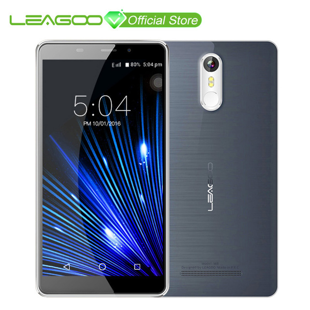 Смартфон LEAGOO M8, 5,7-дюймовый экран HD IPS, Android 6.0, четырехядерный процессор MT6580A, ОЗУ 2 Гб + постоянная память 16 Гб, аккумулятор 3500 мА/ч, телефон с отпечатком пальца и камерой 13,0 мегапикселей