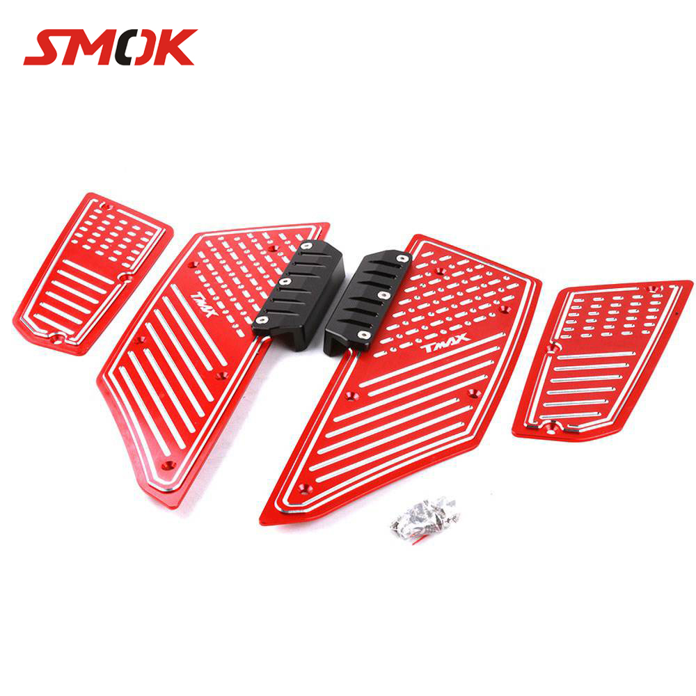 цена на SMOK For Yamaha Tmax T max 530 Accessori 2012 2013 2014 2015 2016 Motorcycle CNC Aluminum Front Rear Foot Pegs Footrest Step Pad