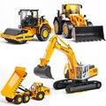 4 estilos modelo diecast cars 1/50 escala folklift horizental rodillo de seis vehículos de construcción excavadora cargadora de ruedas boys toys