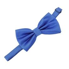 Уникальный галстук-бабочка регулируемый размер(Королевский синий клетчатый