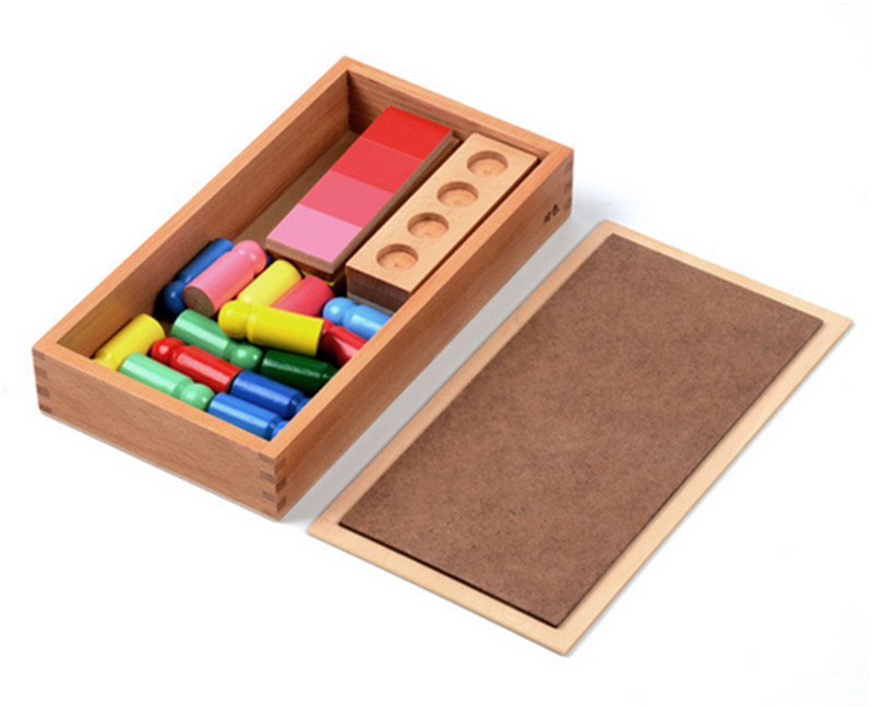 Nouveau bois bébé jouets famille Version Montessori couleur ressemblance tri tâche bois petite enfance préscolaire enfants bébé cadeaux - 3
