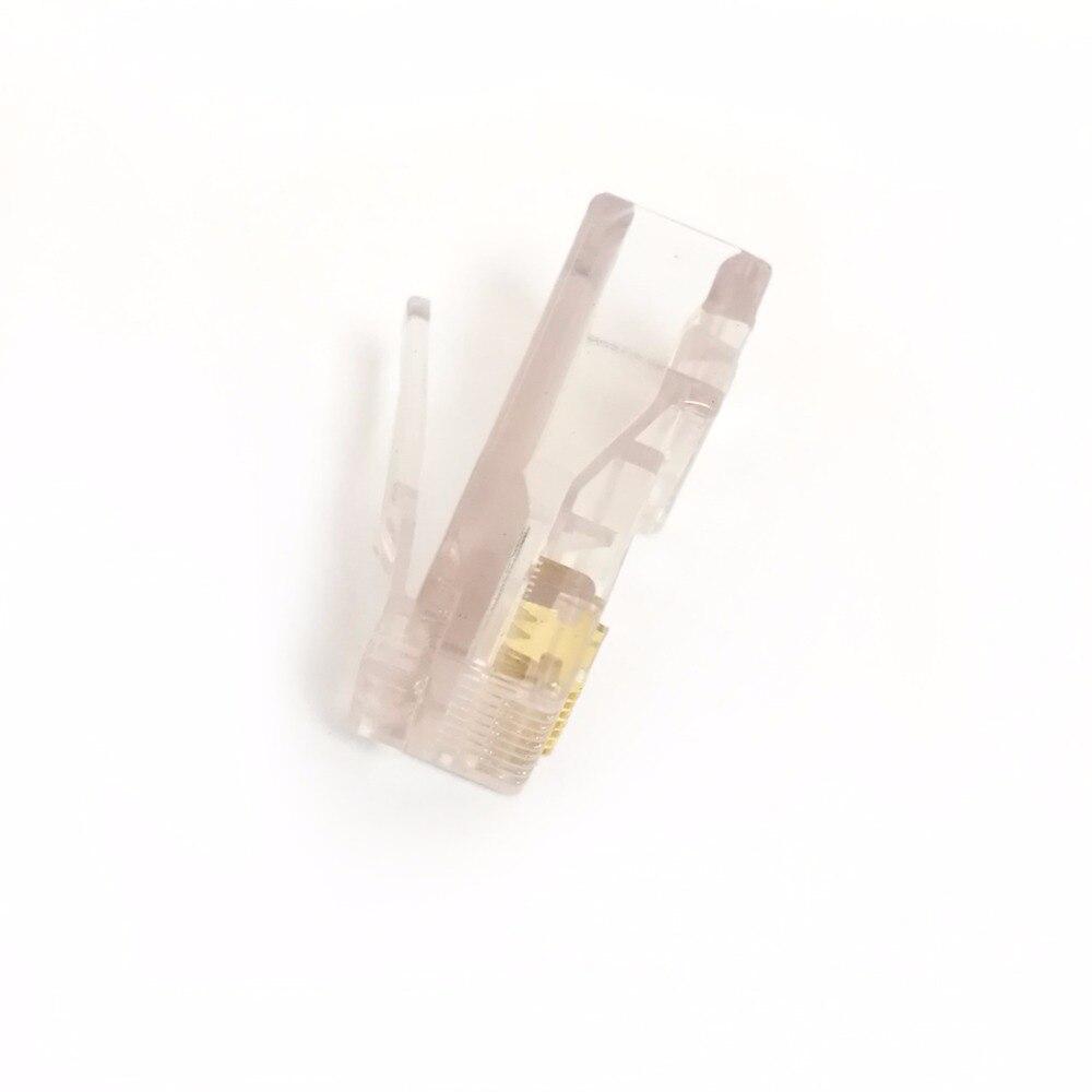 100 stücke neue cat5 rj45 8p8c netzwerkkabel kristall stecker amp