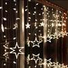 LAIMAIK AC110V Or 220V Holiday Lighting LED Fairy Star Curtain String Luminarias Garland Decoration Christmas Wedding