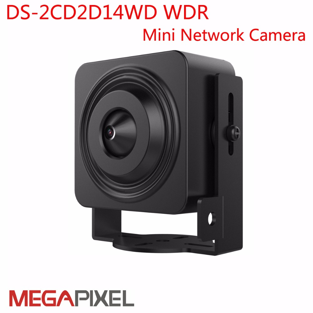 DS-2CD2D14WD WDR Mini Network Camera 1MP Pin hole Mini IP Camera 120db WDR hik-connect iVMS4200 iVMS4500 Easy IP