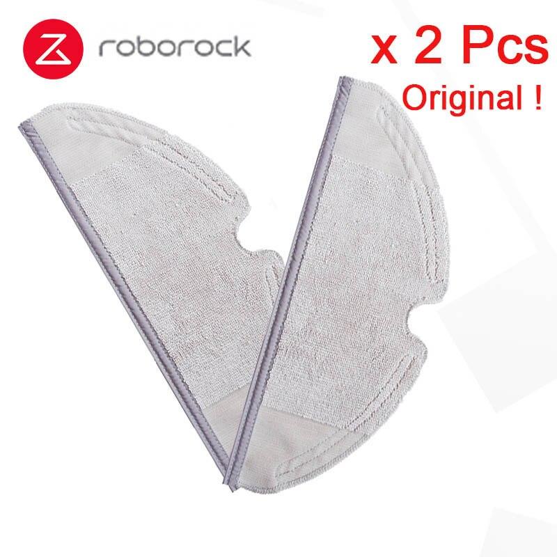 Acheter 2 pcs/lot D'origine Xiaomi Roborock Robot S50 S51 Aspirateur 2 De Rechange Pièces accessoires roborock Sec Humide Vadrouille Chiffons de Pièces d'aspirateur fiable fournisseurs