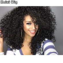 "22"" Afro Kinky Wig Cheap Synthetic Long Kinky Curly Wigs For Black Women African American Female Wig Heat Resistant Fiber Wig"