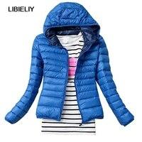 Niza chaqueta de invierno mujeres Abrigos Slim parka chaqueta de las mujeres del invierno del otoño de la manera algodón casual Chaquetas básicas