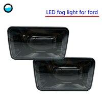 2psc Fog Lights Rectangular Lamps Black Morimoto Type F2 XB High Power LED Fog Lamps For Ford LED Fog Lights.