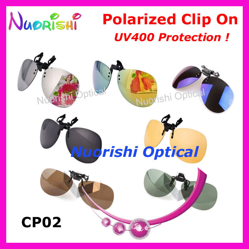 f3af5ffd94 10pcs Aviator Style Polarized Sunglasses Clip On Goggles CP02 TAC Lens with UV400  seven colors for options Free Shipping-in Sunglasses from Apparel ...
