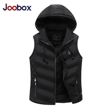 JOOBOX Brand Mens Jacket Sleeveless Vest Winter Fashion Casual Coats Male Cotton-Padded Men's Vest Men Thicken Waistcoat 3XL