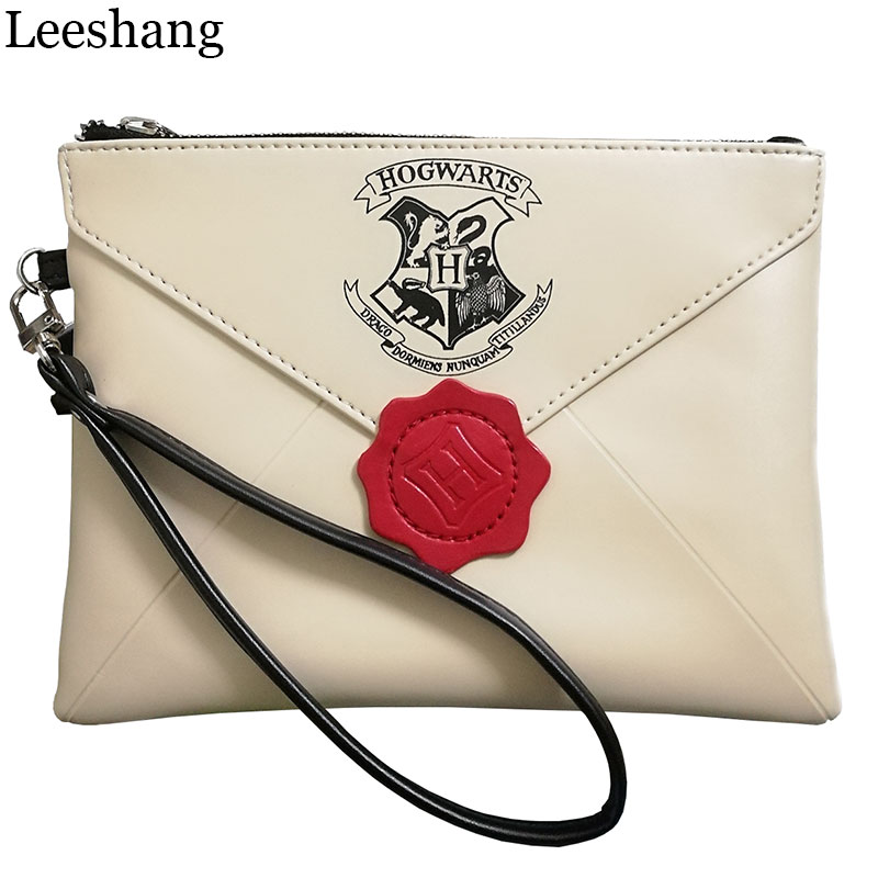 Leessang New Harry Potter Letter From Hogwarts Wallet Woman Wristbands Hand Bag Female Zipper Clutch Party Purse Phone Bags coin purses the new potter harry potter harry zero wallet short paragraph fashion handbag bag lqb