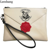 Leessang New Harry Potter Letter From Hogwarts Wallet Woman Wristbands Hand Bag Female Zipper Clutch Party