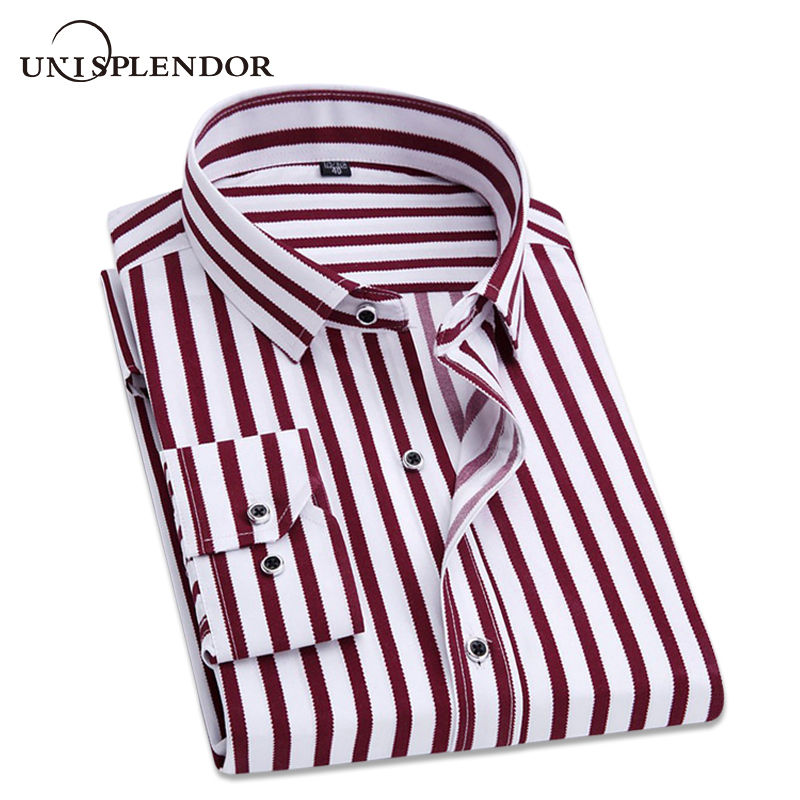 2019 Spring Fashion Men Casual Shirt Printed Brand Square Collar Slim Fit Lightweight Floral Thin Social Man Dress Shirt YN10294