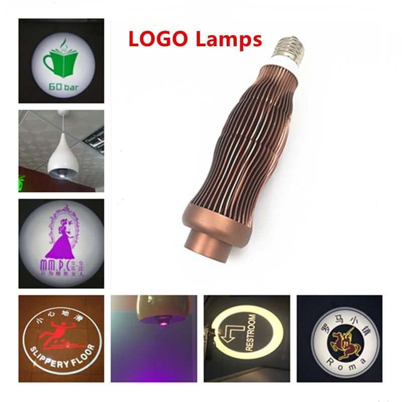 LED Logo 5W 7W  E27 GU10 LED Static logo Projector lamp  custom Projection advertising light 110V 220V240V high quality 400 0184 00 com projection design f12 wuxga projector lamp for projection design f1 sx e f1 wide f1 sx