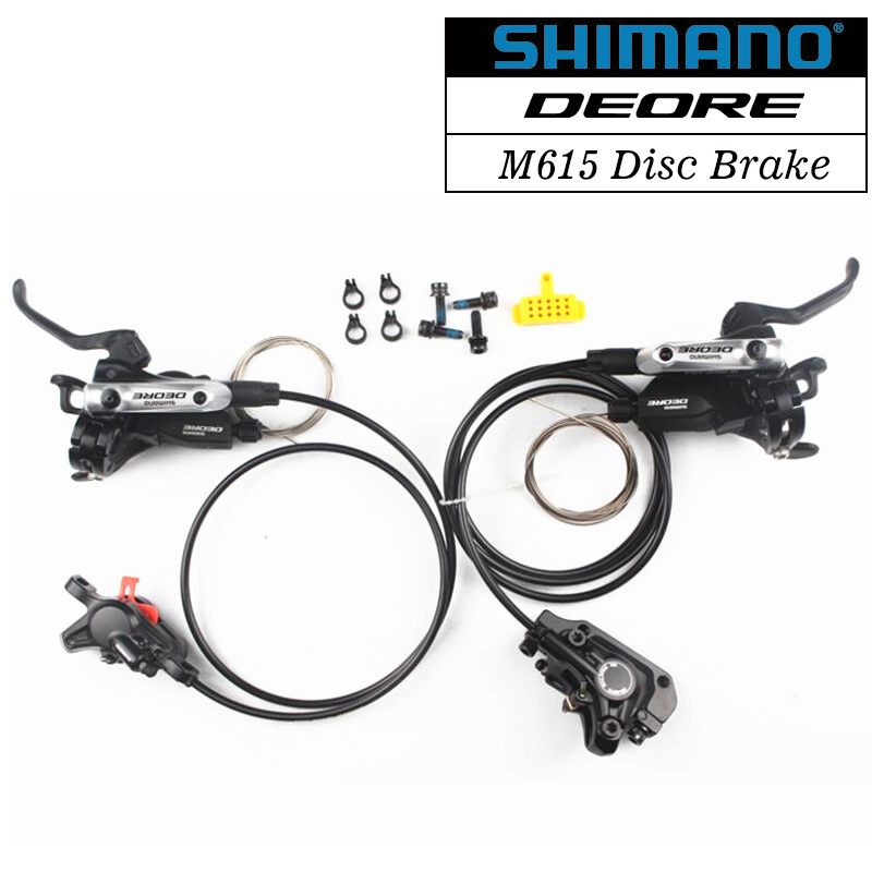 где купить Shimano DEORE M615 Hydraulic Disc Brake MTB Mountain Bike Calipers Left Black &Shimano Deore M615 Disc Brake Mountain Bicycle дешево