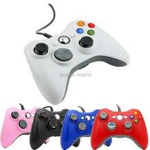USB Проводной Геймпад Геймпад Для Microsoft Xbox 360 Проводной Контроллер Черный Белый Красный Синий Для XBOX360 Игры PC Джойстик