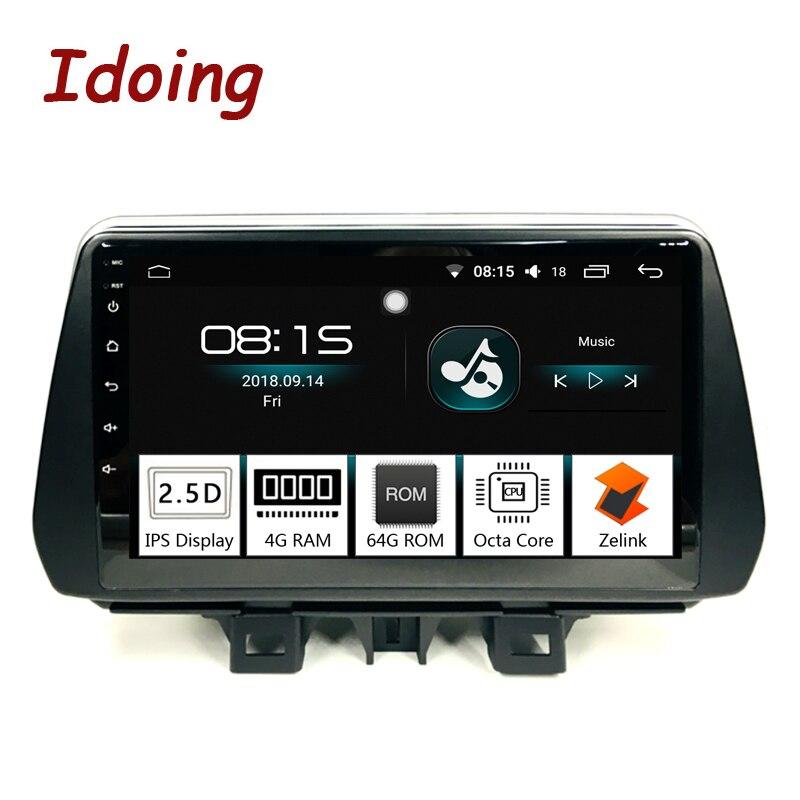 Idoing 9inch4G + 64G 2.5D IPS 8 Core Auto Android8.0 Radio Player Fit Hyundai Tucson/ix35 2018 Built-In navigazione GPS e GLONASS