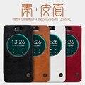 Para asus zd551kl nillkin genuine carteira de couro case capa para sacos de telefone casos asus zenfone selfie zd551kl 5.5 + filme protetor
