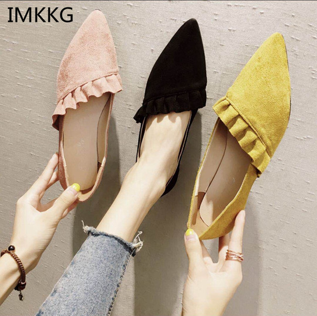a32b85111 Women Flats Pointed Toe Ladies Shoes Autumn Sexy Female Shoes Shallow  Ballerina Flat Women Casual Shoes m474