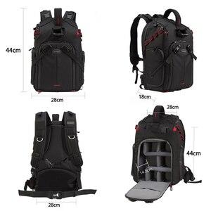 Image 2 - Jealiot SLR сумка для фотоаппарата рюкзак для фотоаппарата фоторюкзак чехол для линз сумки сумка для камеры Рюкзак DSLR цифровой 14 дюймов ноутбук фотография штатив дождевик объектив противоударный водонепроницаемый