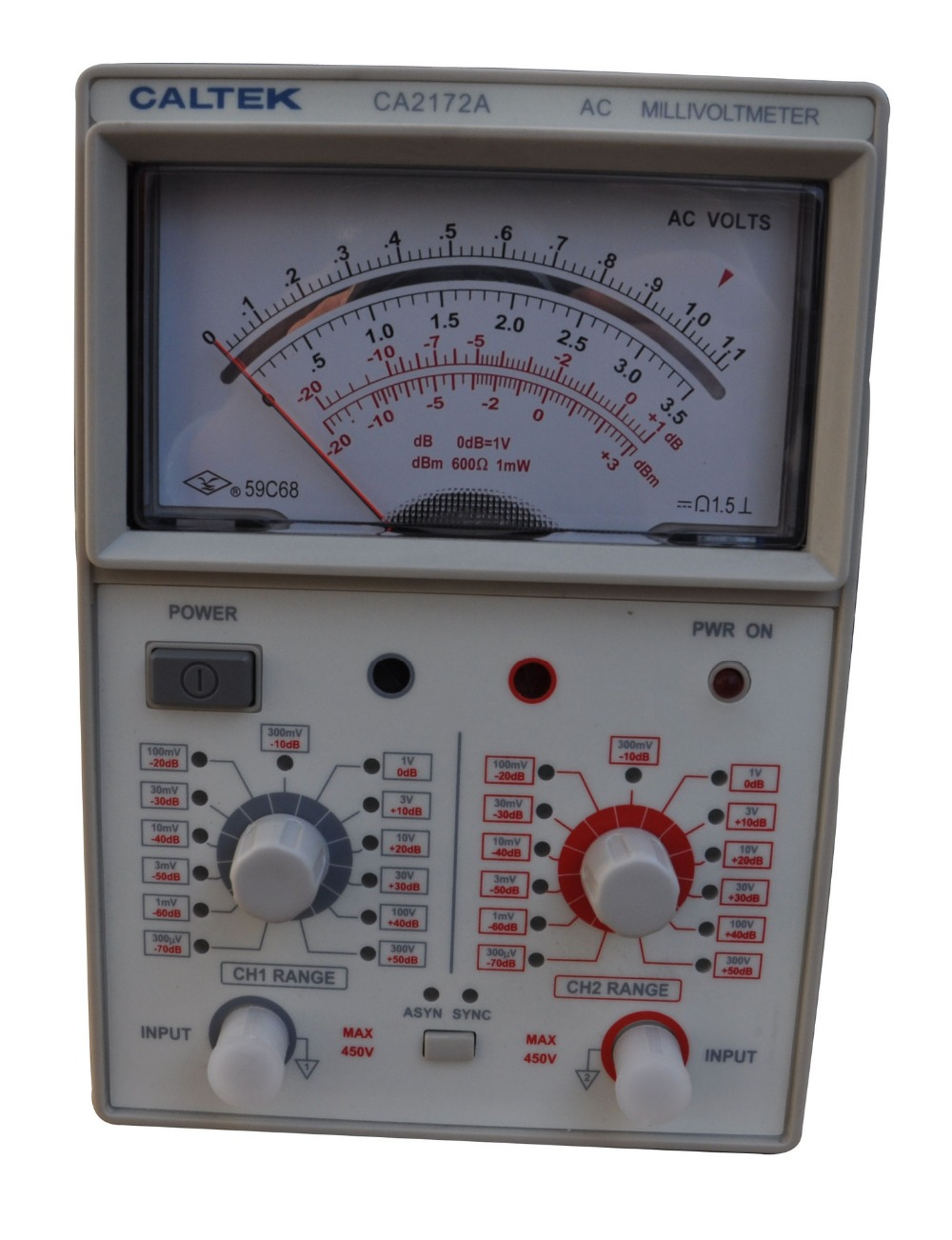 Yangzhong Caltek CA2172A double channel input AC pointer voltmeter 100uV 300V, frequency range is 10Hz 2MHz