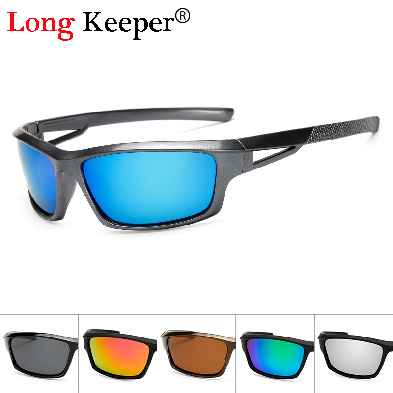 Long Keeper Fashion Men Polarized Solbriller Stylish Sun Glasses Mand 100% UV400 Polariseret Drivgoggle Style Eyewears KP1008
