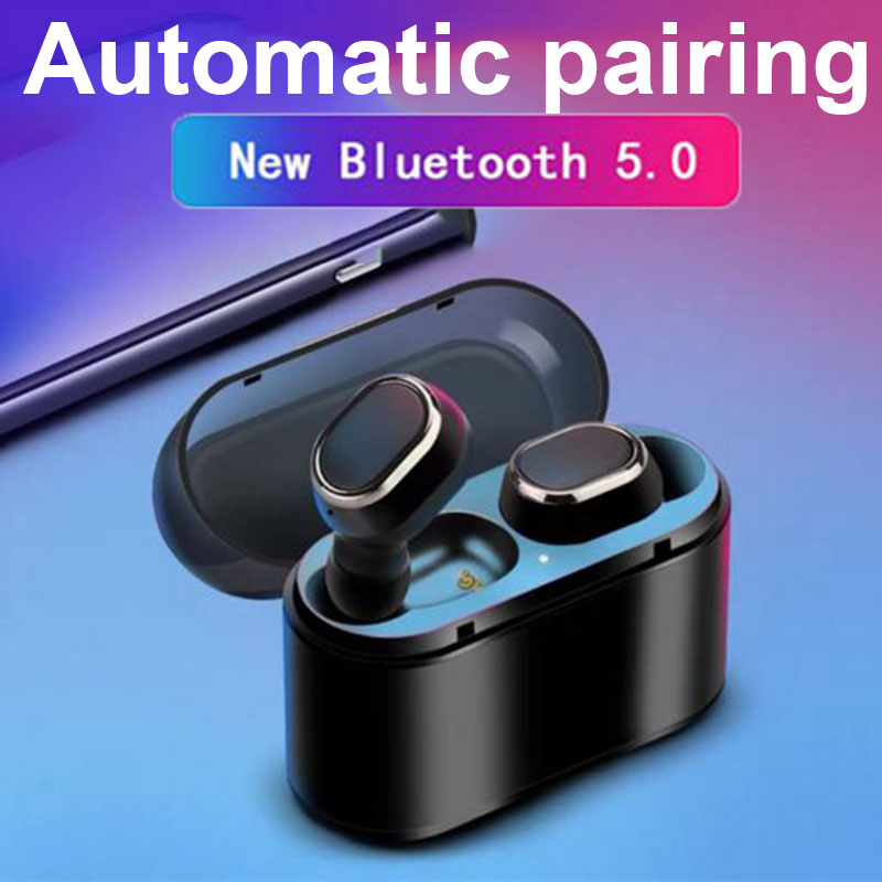 Hot Bluetooth 5.0 Earphones In-Ear Wireless Stereo Earbuds Sports Headsets with Mic and Charging Box for Android iPhone