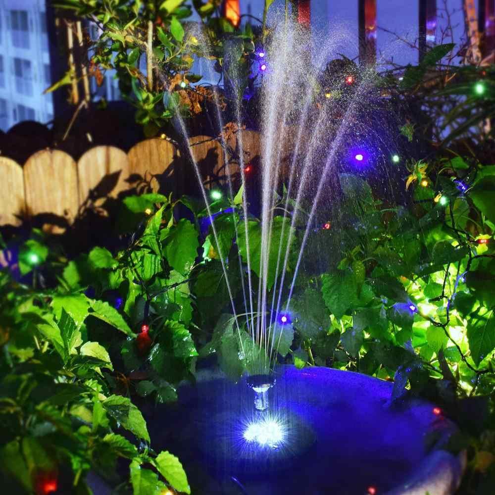 320L/H Солнечный Бесщеточный Водяной насос встроенный аккумулятор для хранения погружной белый свет светодиодный фонтан птицы банный садовый декор