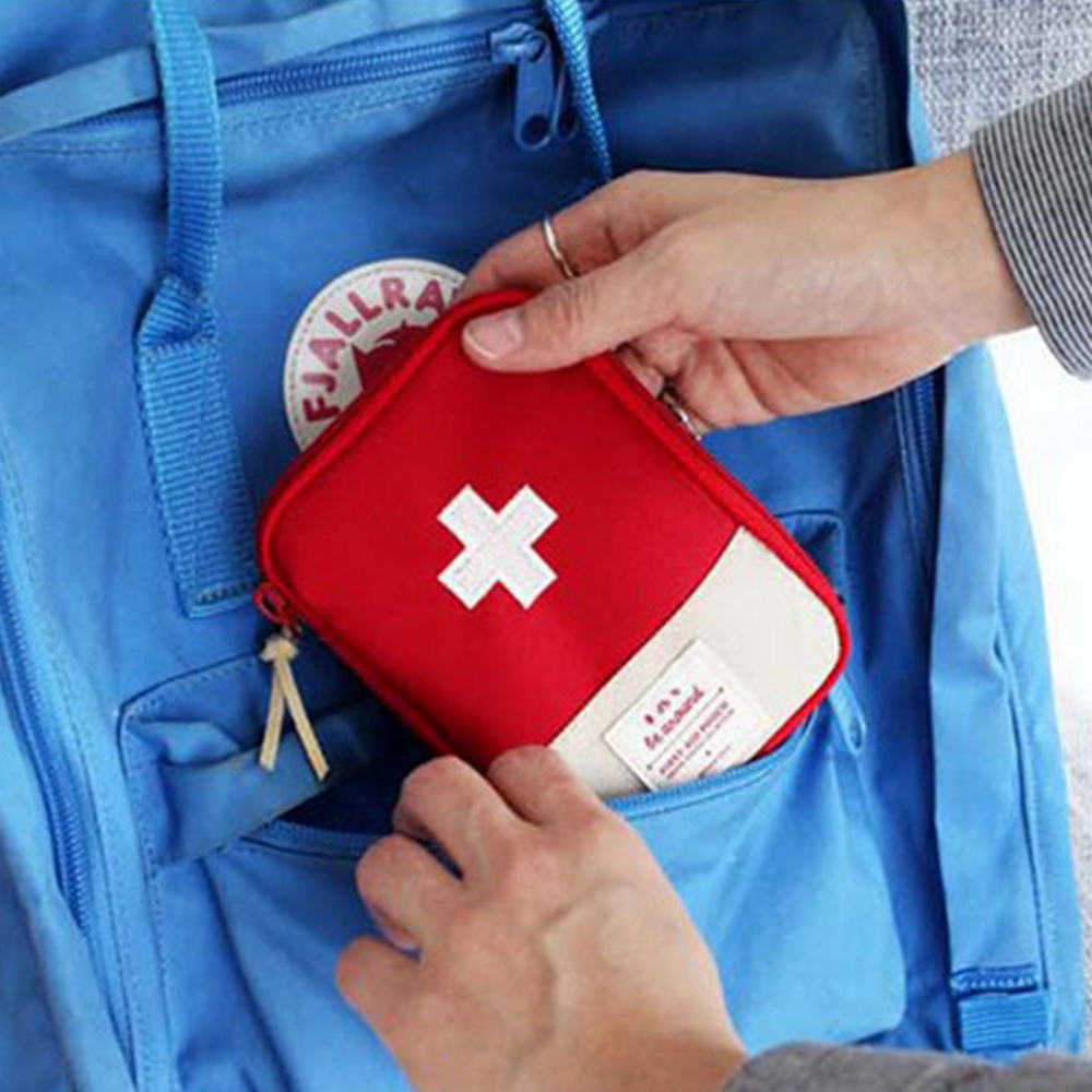 1pc Portable Outdoor Travel First Aid Kit Medicine Bag Home Small Medical Box Emergency Survival Pill Case