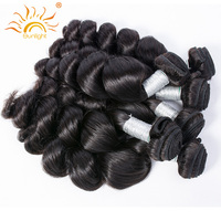 Sunlight Human Hair Peruvian Loose Wave Remy Human Hair Weave Bunldes Wavy Hair Extensions 1piece Pack