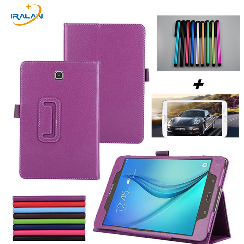Business Stand Pu Leather Book Cover Case For Samsung Galaxy Tab A 8.0 T350 T351 T355 P350 8 inch +screen protector film+stylus business case for samsung galaxy tab3 t310 t311 8 inch 1 1 office pu leather flip stand cover case