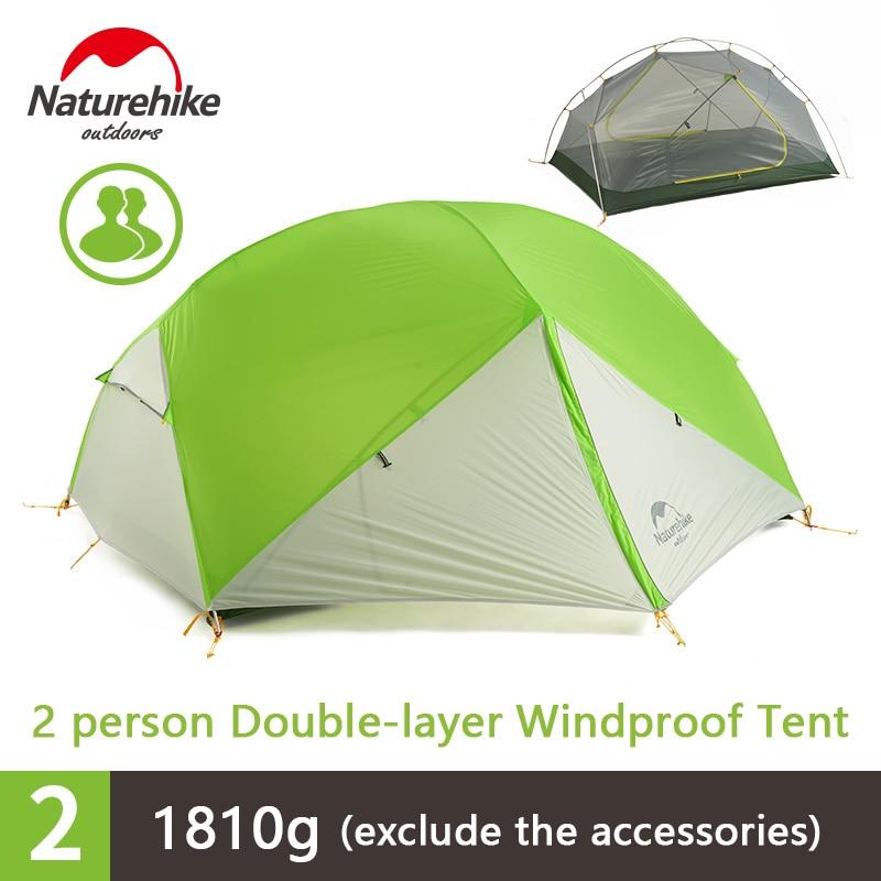 Naturehike Mongar 2 Personne Camping En Plein Air Tente De Plage De Voyage Double-couche Étanche 3 Saison Tente NH17T006-M