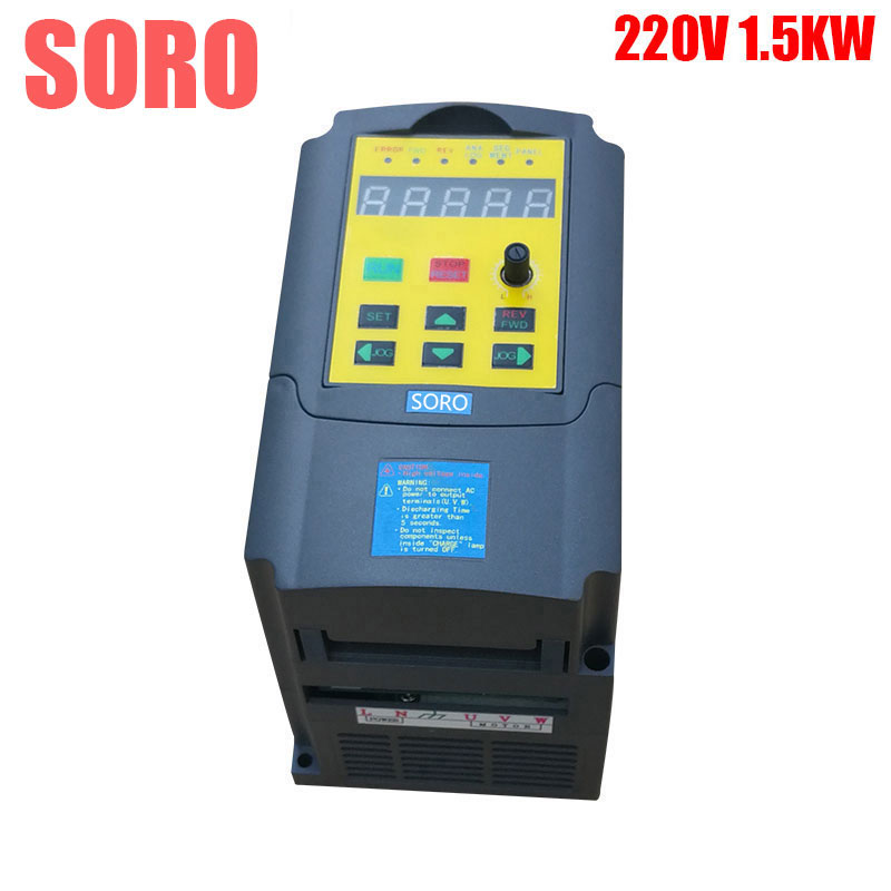 CE 1500W 1.5KW 220V single phase input 3 phase output mini frequency inverter ac motor drive frequency converter inverters