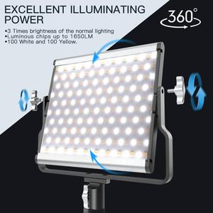 Image 4 - spash L4500 2 Sets LED Video Light with Tripod Bi color 3200K 5600K CRI95 Photography Lighting Photo Lamp Light for Video Studio