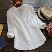 Summer Women Loose Blouses Shirt Solid L