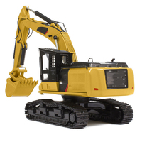 1/50 Alloy Diecast TR40003 Tractor CAR Simulation of Engineering Vehicle Mini Excavator Kids Toys Collection Gift