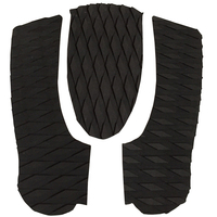 Traction Pads Anti Slip Grooved Surf Foot Pads Deck Grips 3pcs Eva Surfboard Skimboard Tail Pad