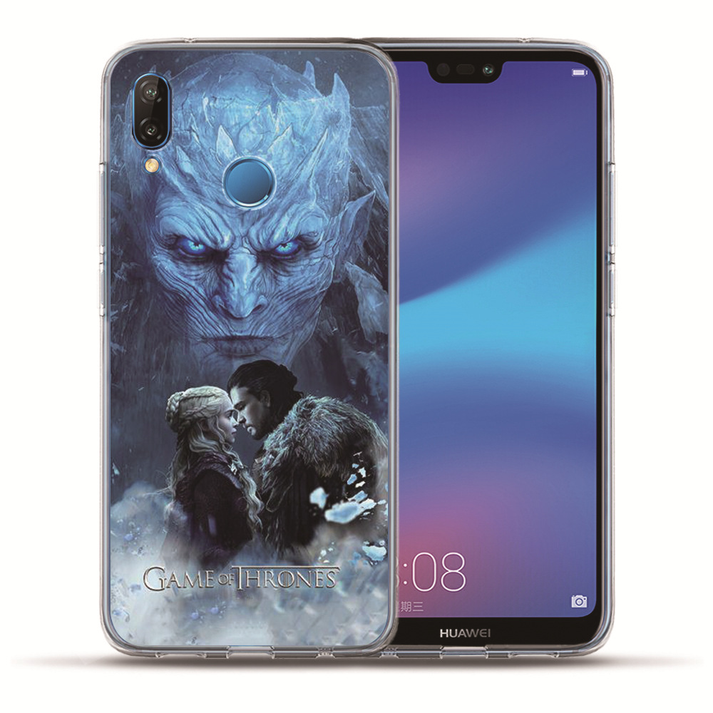 For Huawei Nova 3i 2 Plus Y5 2018 Y6 II Pro Y7 P Smart P8 P9 Lite Etui Phone Case Funda Daenerys Dragon Jon Game Thrones Coque in Fitted Cases from Cellphones Telecommunications