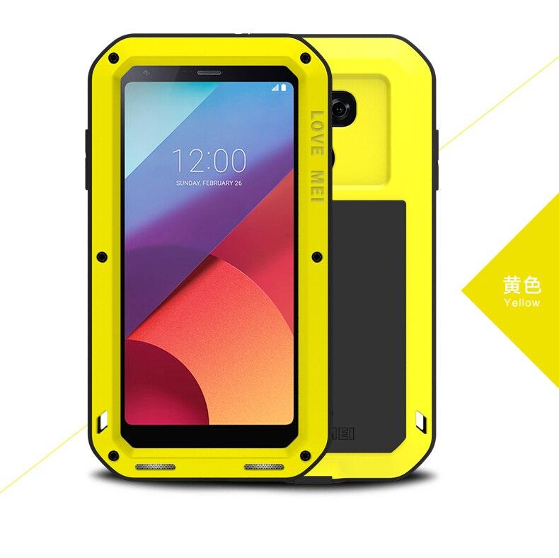 Étui pour LG G6 Original Love Mei étui pour LG G6 étanche aux chocs en aluminium résistant à la saleté housses pour LG G6 5.7''