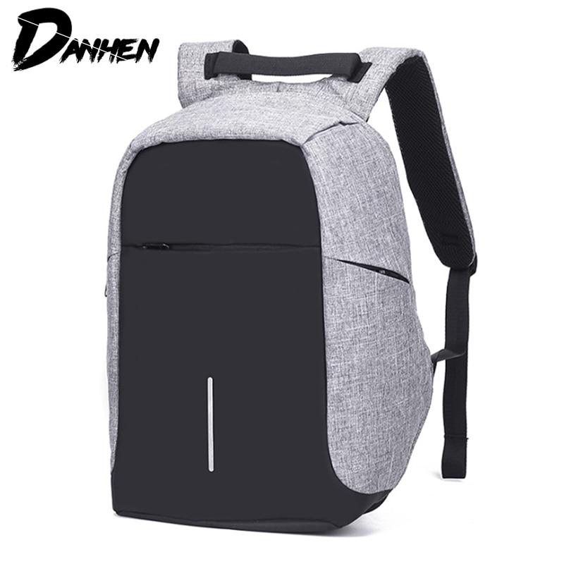 d5793efa00 Detail Feedback Questions about DANHEN Male Laptop Backpack USB Charging  Anti Theft Backpack Men Travel Backpack Waterproof School Bag Mochila on ...