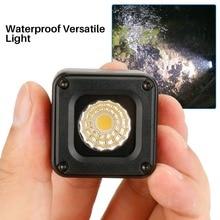 Ulanzi L1 10m sualtı LED Video ışığı su geçirmez kısılabilir LED Video lamba kamera Nikon Canon için GOPRO SJCAM eylem kameraları