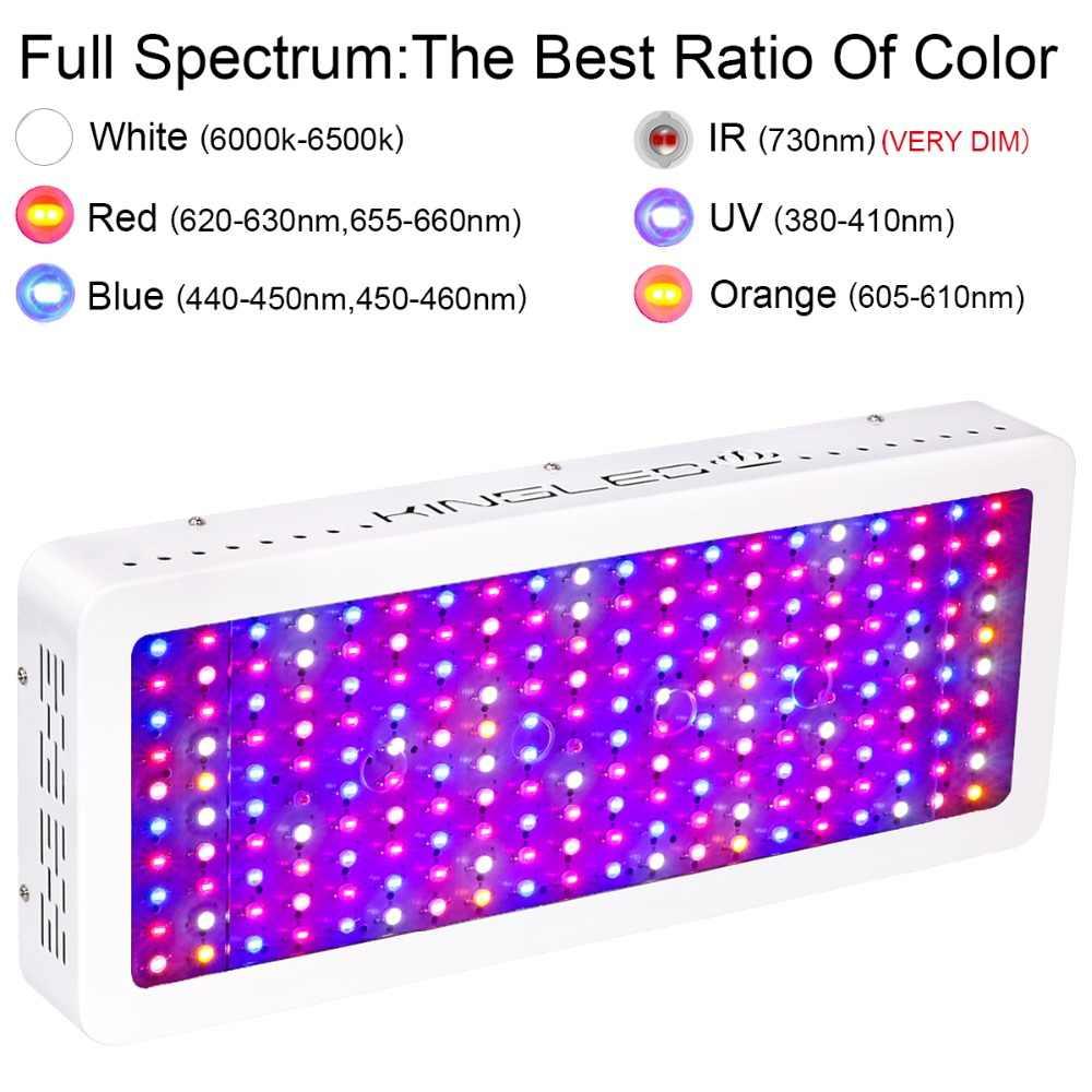 2000 w Levou crescer luzes espectro completo de Chip Duplo com UV & IR para plantas de interior crescem caixa tenda de Efeito Estufa interior 200 pcs chips de led