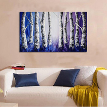 Huge Modern Abstract Oil painting On Canvas Handmade Landscape Art 24X32 Home Decoration