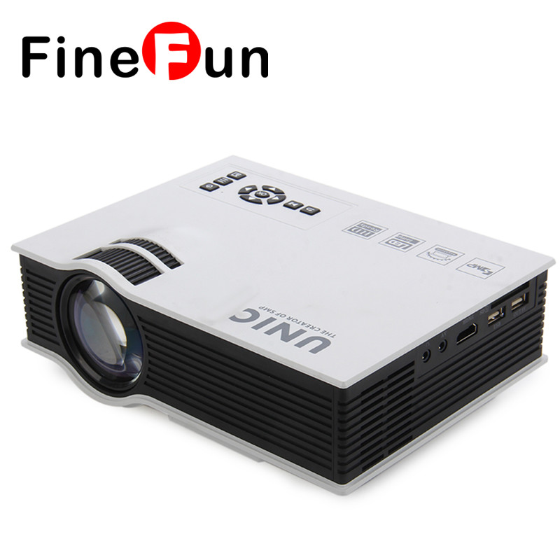 FineFun New UC40+ Full HD 3D Multimedia Projector Pico LED Home Cinema Proyector USB SD AV HDMI Projector Free Shipping #A1477