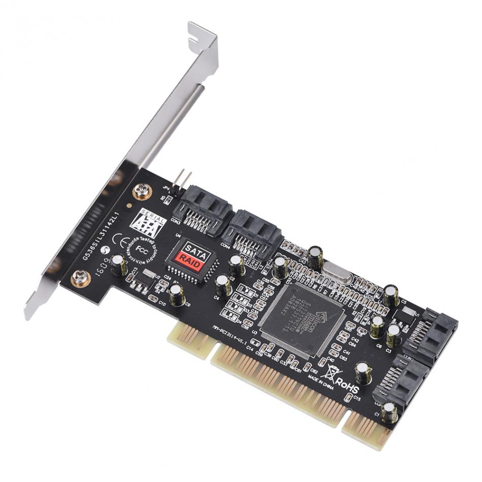 Hot PCI to 4 Internal SATA Port 1.5Gbps Sil3114 Chipset RAID Controller Card Computer Components
