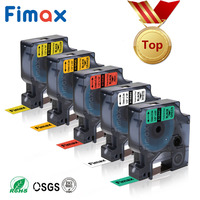 Fimax 5 Pcs Industrial Dymo Rhino Permanent Vinyl Labels Tape 18432 18435 18438 18444 18441 Compatible Dymo Rhino 4200,5000,5200