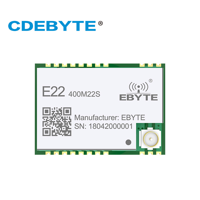 E22-400M22S SX1268 433MHz Transmitter and Reciever 22dBm IPX Stamp Hole Antenna Connector IoT SPI uhf RF Wireless TransceiverE22-400M22S SX1268 433MHz Transmitter and Reciever 22dBm IPX Stamp Hole Antenna Connector IoT SPI uhf RF Wireless Transceiver