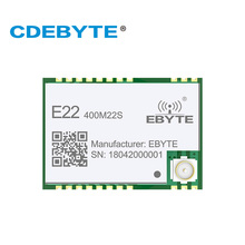 E22-400M22S SX1268 433MHz Transmitter and Reciever 22dBm IPX Stamp Hole Antenna Connector IoT SPI uhf RF Wireless Transceiver
