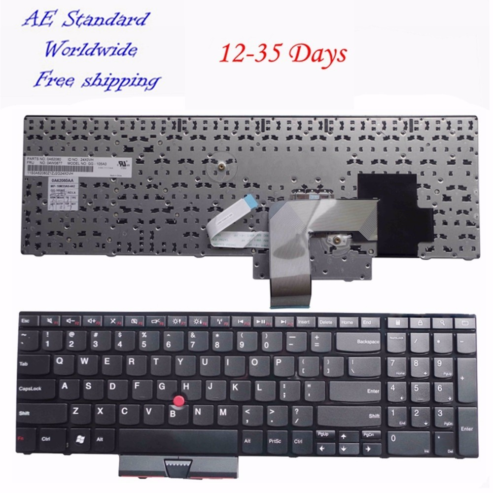 US Black New English Laptop Keyboard For Lenovo For IBM For Thinkpad E520 E520S E525 With Pointing Stick new for lenovo ibm thinkpad p50 p50s series english us laptop keyboard