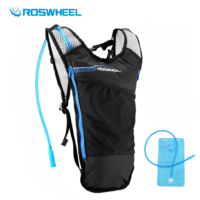 Roswheel 2L Water Bag 5L Camping Hydration Backpack Ultralight Running Hiking Cycling Backpack Water Bladder Sports Camelback anmeilu 2l water bag 8l camelback hydration backpack ultralight sport camping climbing running cycling water bladder mochila